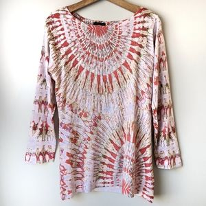 Nally & Millie Tie Dye Tunic Top Soft Medium